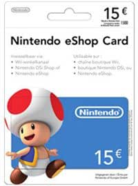 Carte Cadeau Nintendo Eshop.Nintendo Eshop Card 15 Carte De Jeu Console Compatible Compatible Multi Plateformes