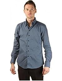 Chemise de Cérémonie Homme coloris gris bleu col original