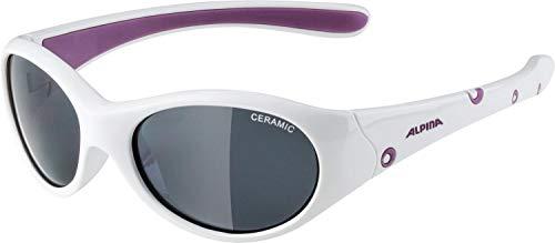 Alpina Unisex Jugend FLEXXY Girl Sportbrille weiß, One Size