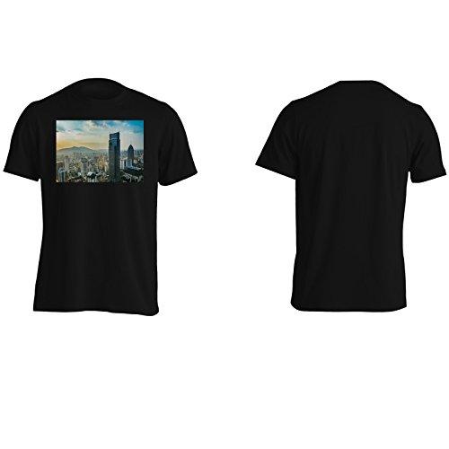 Viaggiare la città street art mondiale nuovo Uomo T-shirt b445m Black