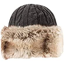 Mountain Warehouse Sombrero Peludo para Mujer  Calidez con Piel sintética 9db2ab2ac29