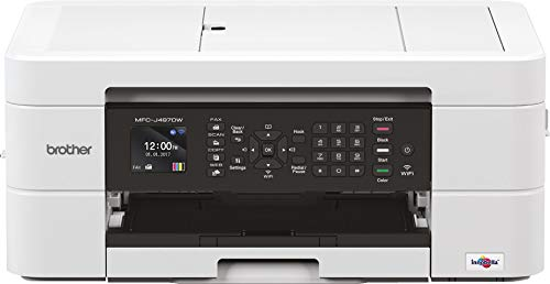 Brother MFC-J497DW MFC-Ink Fax Drucker mit Faxfunktion und 20 Blatt ADF