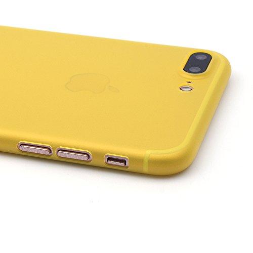 iProtect Apple iPhone 7 Plus, iPhone 8 Plus Hülle Farbverlauf Hard Case Schutzhülle orange 0,3mm gelb
