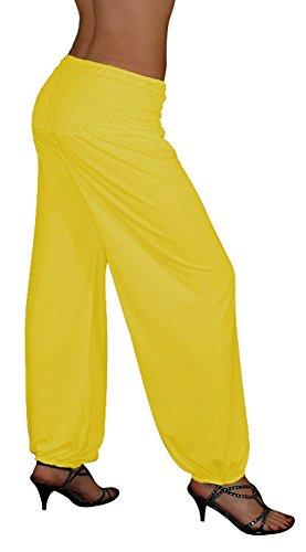 S&LU tolle Damen Haremshose, Pluderhose in 4 Größen - !NEU! Jetzt auch im Camouflage-/Tarn-Design !NEU! - von XXS bis XXXXXXL (6XL) wählbar gelb Einheitsgröße S-XXL (Gelbe Gorilla Kostüm)