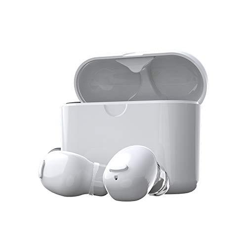 DLIBIG Bluetooth 5.0 kabellose Kopfhorer True Wireless TWS Bluetooth Kopfhorer in Ear Mini Headset Sport drahtlose Ohrhorer Ear Earbuds mit Portable Mini Ladebox,White -