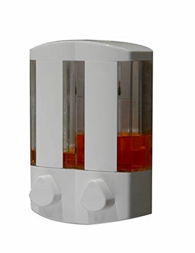 Seifenspender Mode Wand montiert Badezimmer Hand - waschen Flüssigkeit Flaschen doppelköpfige Seife Flüssigkeitsbehälter Hotel Einfach zu gebrauchen (Seifenspender In-schalter)