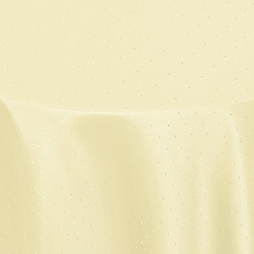 Tischdecke Damast CARMEN mit Saum - Eckig Rund Oval - Farbe und Größe wählbar - Premium Qualität -   Oval 140x190 cm creme  