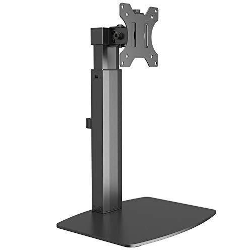 RICOO TS4011, Monitor-Ständer, Höhenverstellbar, PC Bildschirm-Halterung 17-32 Zoll (43-81 cm) Schwenkbar, Neigbar, Stand-Fuß, VESA 100x100, Schwarz