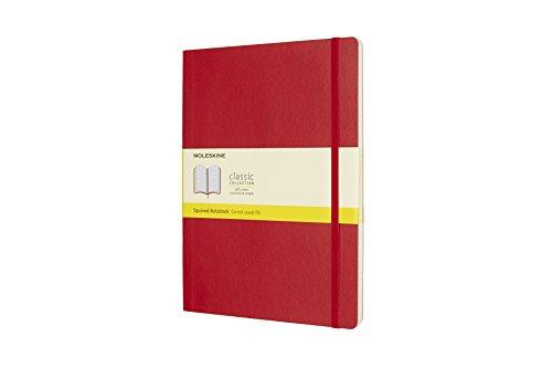 Moleskine Notizbuch, Xlarge, Kariert, Soft Cover, Scharlachrot