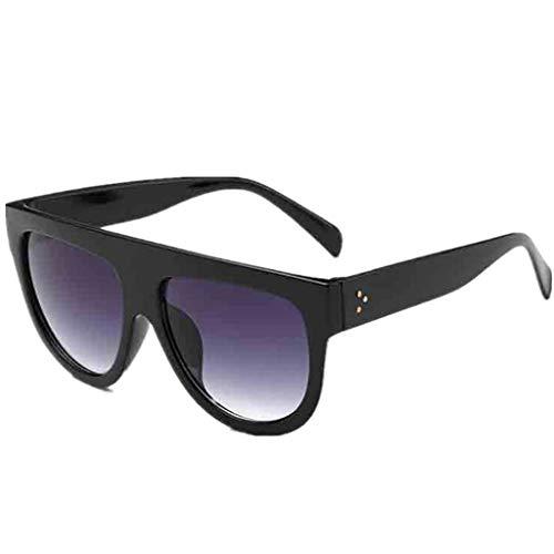 EUCoo Mode Liebhaber Sonnenbrillen 1 StüCk Doppel Meter Nagel Unisex Brille + Box Leopard Sonnenbrille(A)