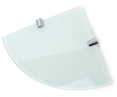 Ripiano in vetro 500/MMX100/MM 6/mm temperato con angoli arrotondati e finitura cromata supporta
