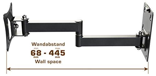 RICOO Monitor-Halterung R02-11 Monitor-Halter Wandhalterung-TV Schwenkbar Neigbar LCD LED Wandhalter fuer Flach-Bildschirm PC-Monitor 43-49-54-61-68cm / 17′ 19′ 22′ 24′ 27′ Zoll | VESA max. 100 x 100 universell | Wandabstand nur 68 mm | - 5