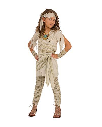 Mumie Kostüm Kinder Mädchen - Horror-Shop Prinzessin der Untoten Mumien Kinderkostüm für Halloween und Karneval L