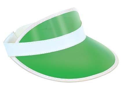 Poker Dealer Kostüm - Clear Green Plastic Dealer's Visor for Vegas Poker Gambling Fancy Dress Accessory by Partypackage Ltd