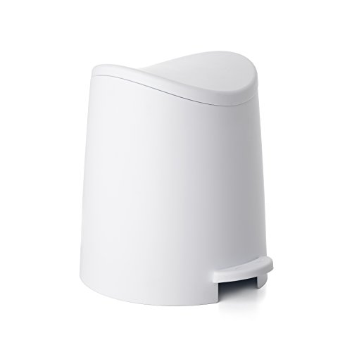 Tatay 3L Pequeño Cubo de Baño con Apertura a Pedal, Blanco, 19x22.1x0.41 cm