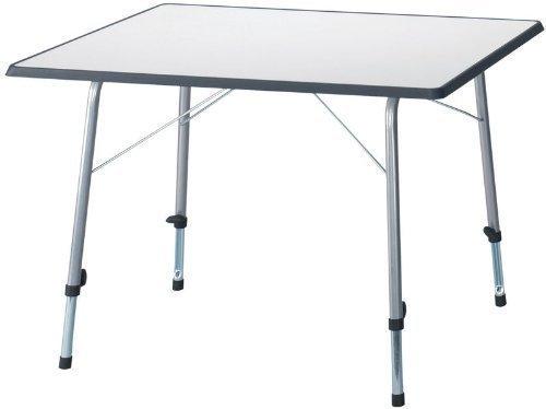 Camping Picknicktisch Grau 80x60cm Klappbar Beine Einzeln Hhenverstellbar Leichtstabil