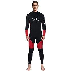 Theshy Combinaison De PlongéE Homme Pas Cher Maillot De Bain Professionnel Flottant Surfing Combinaison Homme Combinaison ComplèTe 2Mm Combinaison De PlongéE TrèS Extensible