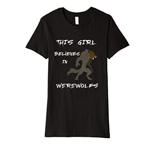 Werwolf Ungeheuer Kreatur Vollmond Wolf Verwandlung T-Shirt