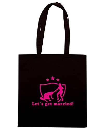 T-Shirtshock - Borsa Shopping MAT0052 Let s Get Married Maglietta Nero