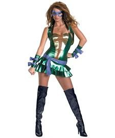 (Womens Sassy Deluxe Teenage Mutant Ninja Turtles Donatello Costume Klein)