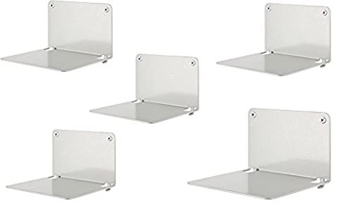 Creativ(es) Invisible Book Shelf Metal 5-Piece Set