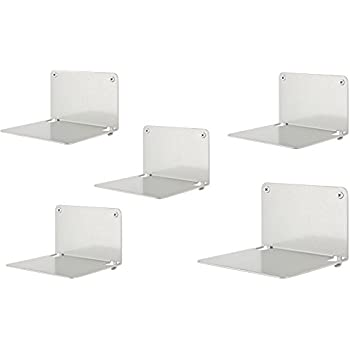creatives invisible book shelf metal 5piece set