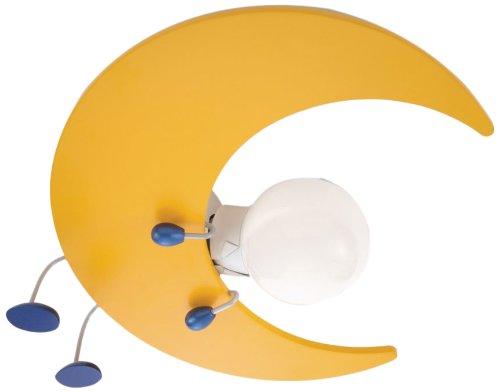 Philips myKidsRoom Lunardo - Plafón, iluminación interior, 12 W, casquillo E27, madera, multicolor