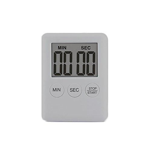 NAttnJf Magnetic Square LCD Digital Timer Cucina Cooking Countdown Sveglia Strumenti Argento