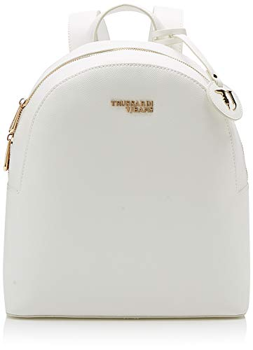 Trussardi Jeans T-Easy Light Backpack, Zaino Donna, Bianco (off/White), 26x30x11.5 cm (W x H x L)