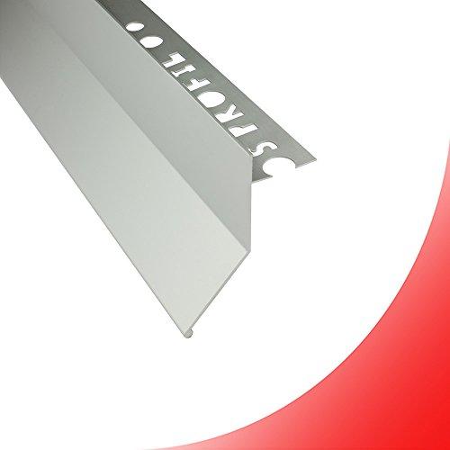 Alu L-Profil Balkon Terrasse abtropf Fliesenschiene Profil Schiene silber L300cm 10mm
