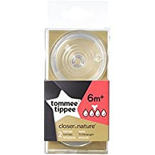 Tommee Tippee Easi-Vent - Tetinas Para Líquidos Densos, 6m+ (2 unidades)