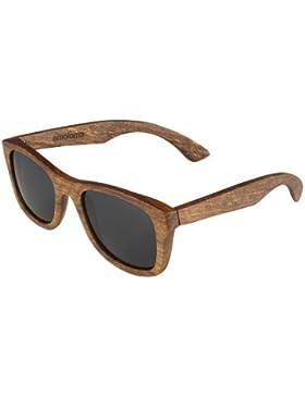 Holz Sonnenbrille Birnbaum Der Rahmen der Brille besteht aus Birnbaumholz / wayfarer style