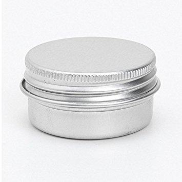 Conteneurs cosmetiques - SODIAL(R) 5 x conteneurs cosmetiques vides couvercle a vis du recipient jar levre pot de baume en aluminium 15ml