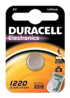 Duracell CR1220 Knopfzelle 3Volt