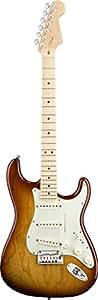 FENDER AMERICAN DELUXE STRATOCASTER ASH TOBACCO SUNBURST TOUCHE ERABLE Guitare électrique Stratocaster