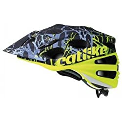 Catlike Leaf 2C Branches Casco de Ciclismo, Amarillo (Yellow Fluor / Black), MD