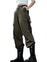 selezione premium 45174 66f22 Amazon.it: pantalone con tasche - Pantaloni / Donna ...