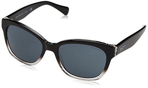 Ralph 0ra5218 144887, occhiali da sole donna, nero gradient/black/grey solid, 55