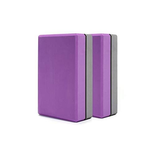 Chenguojian Yoga-Block Yoga Foam Blocks, Supportive Fuß Übung Zubehör, Gleichgewicht, Kraft, Stretch, Pilatus, Fitness, Squat, Pushup, Plank (Color : Purple)