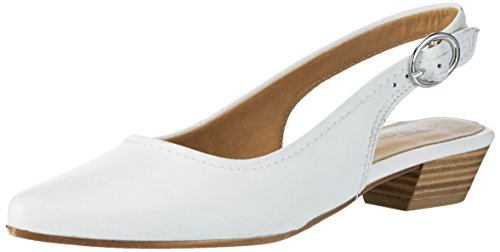 Tamaris 29400, Sandales Bout Ouvert Femme Blanc (White Leather 117)