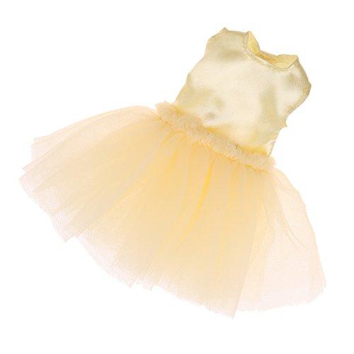 ppenkleid 4 Schichten Tanzkleid Kleidung Für 12 Zoll Blythe Puppen Zubehör - Gelb (Tanz Kostüme Puppe)