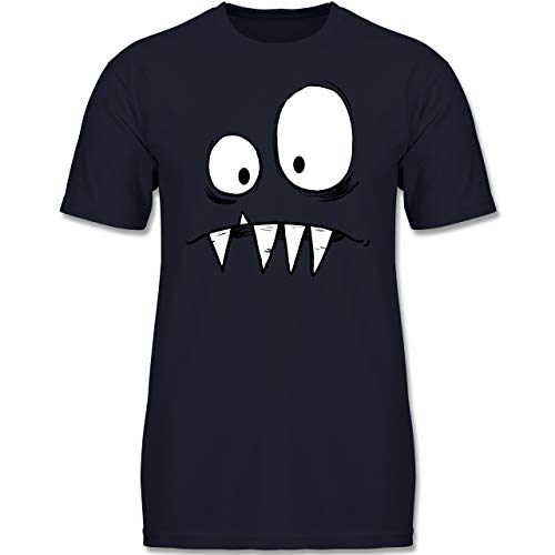 Karneval & Fasching Kinder - Monster Kostüm - 164 (14-15 Jahre) - Dunkelblau - F130K - Jungen Kinder T-Shirt