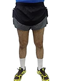 Acetone Solid Men's Running Shorts ( MSH 102- WARM UP-Black)
