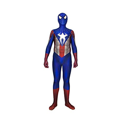 Blue Invisible Man Kostüm - AMIMES Spiderman erwachsenes Cosplay, 3D Style