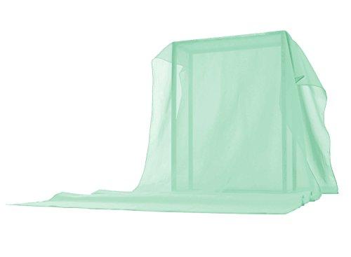 Timormode Schal Chiffon Stola für Kleider Abendkleider Brautkleider Halstuch Strand Einfarbig Damenmode 10200 Mintgrün 200*50cm