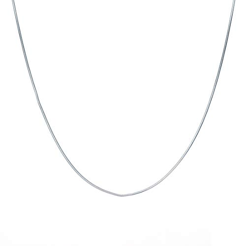Clara Anti-Tarnish 92.5 Sterling Silver Silk Chain Necklace in 16 18 24 inches for Women & Girls