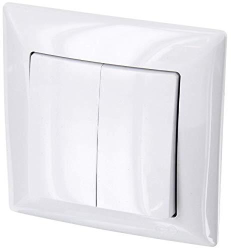 Serie G1/Color Blanco /All-in-One/ /Marco /Habitaci/ón Doble de enchufe de Muelle con tapa IP54/ + Protectora depot8/