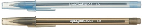 AmazonBasics - Penne a sfera, 1,0 mm, 100 pz