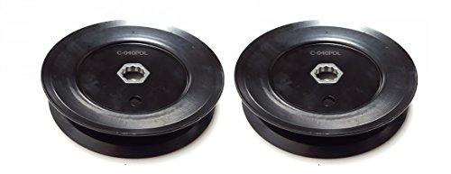 2SPINDEL Riemenscheiben für MTD 756-0969, verwendet auf 96,5cm Decks MTD, cub Cadet, Yard Machine, Huskee, weiß -