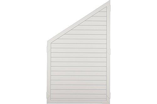 Sichtschutzzaun Kunststoff weiß 90 x 150/90 cm (Serie Juist)